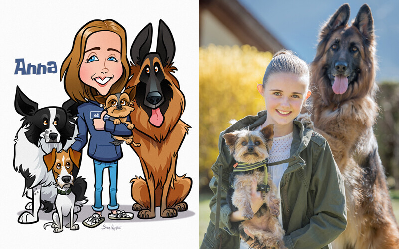 Anna with dogs - 2019