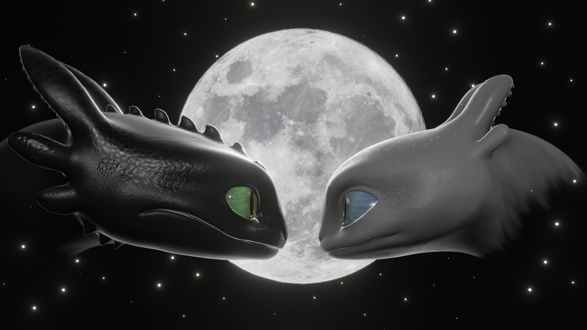 ArtStation - Toothless and Light Fury, Matheus Evangelista