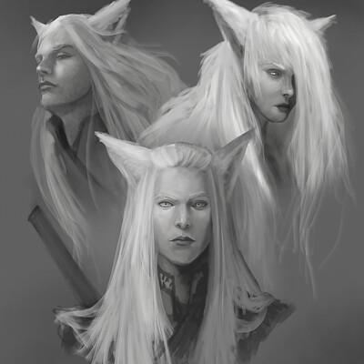 Lorenn tyr sketch kitsunes1