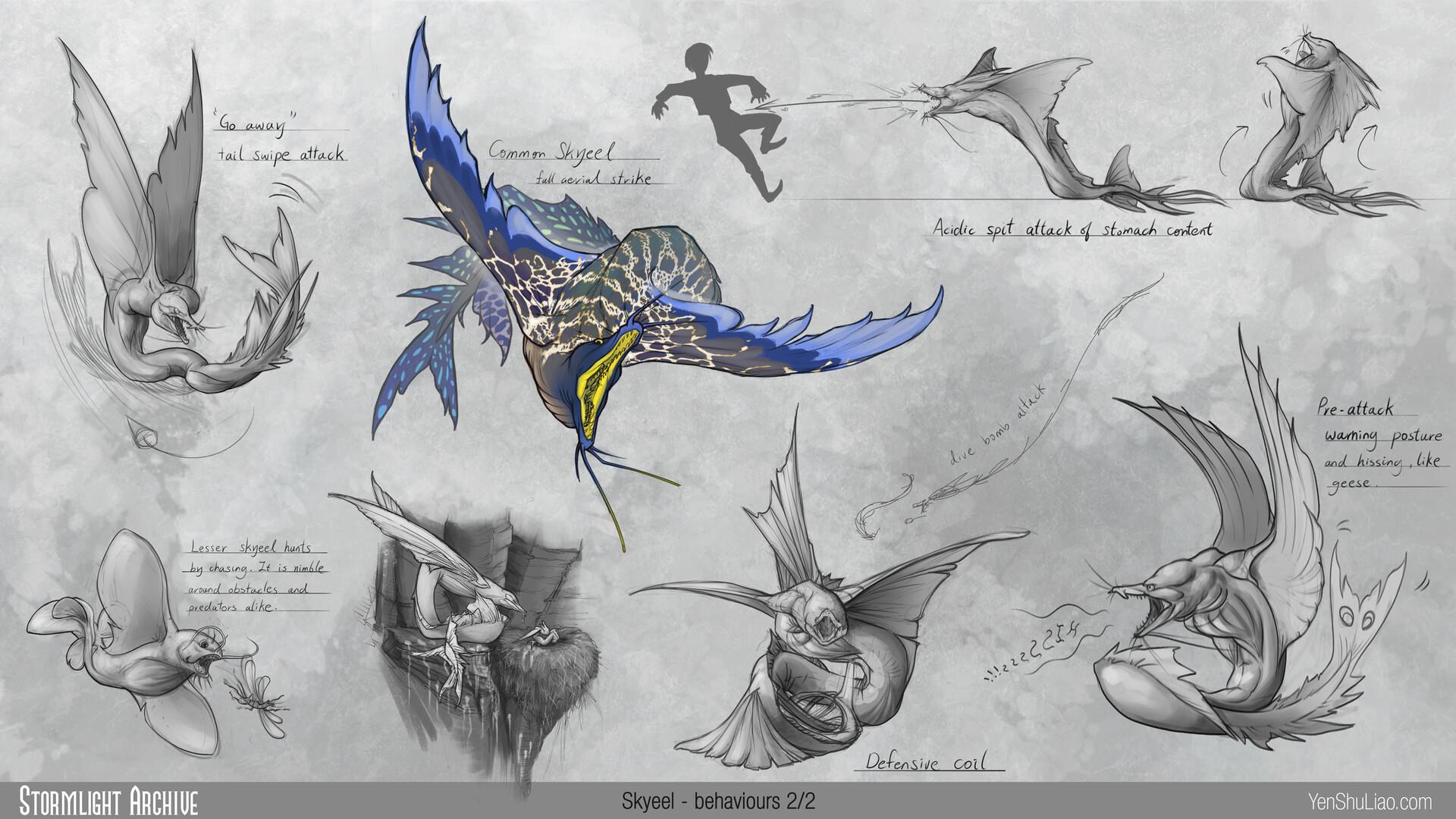 Yen shu liao stormlightarchive skyeel creature concept behavior 02 yen shu liao