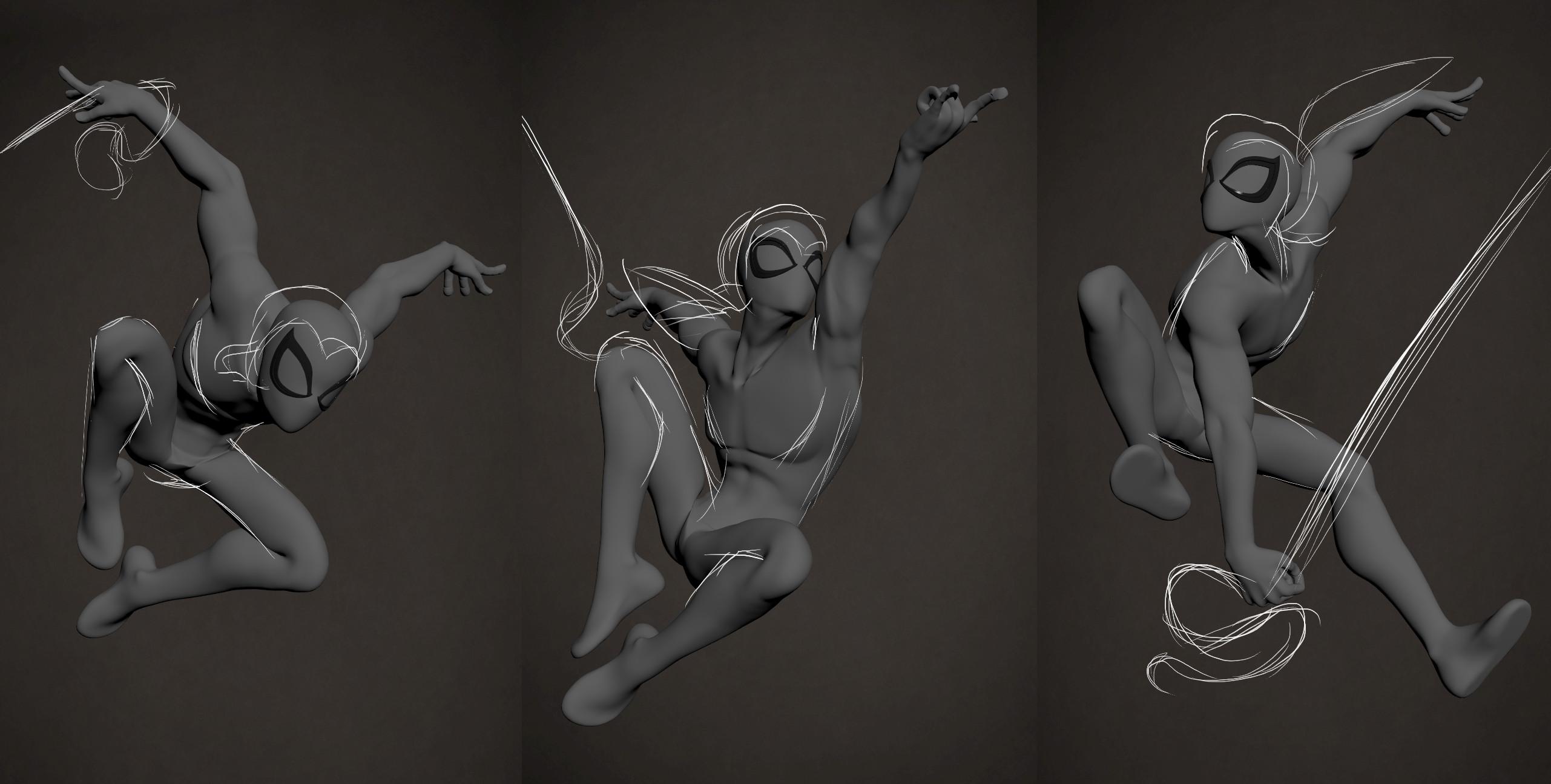 Spidey poses exploration