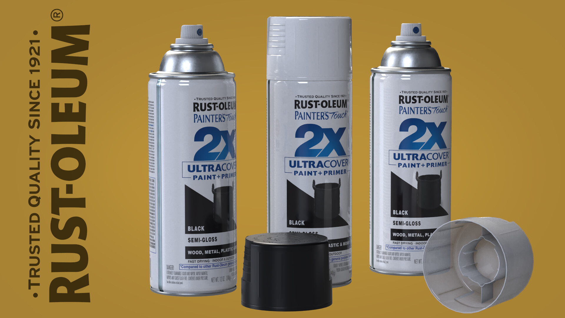 ArtStation - 3D MODELING :-: Rust-oleum Spray Paint Cans, Eric Hamrin