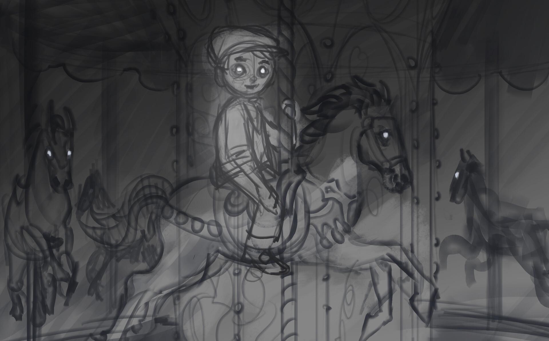 Thomas bourdon cursed caroussel sketch
