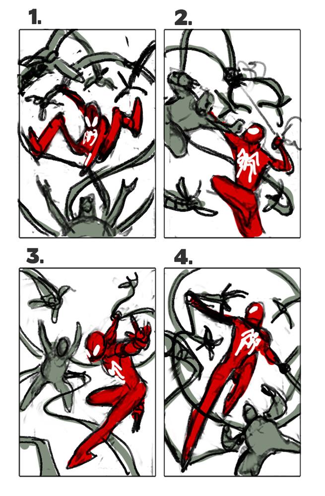 David nakayama spidey ock layouts 1000v
