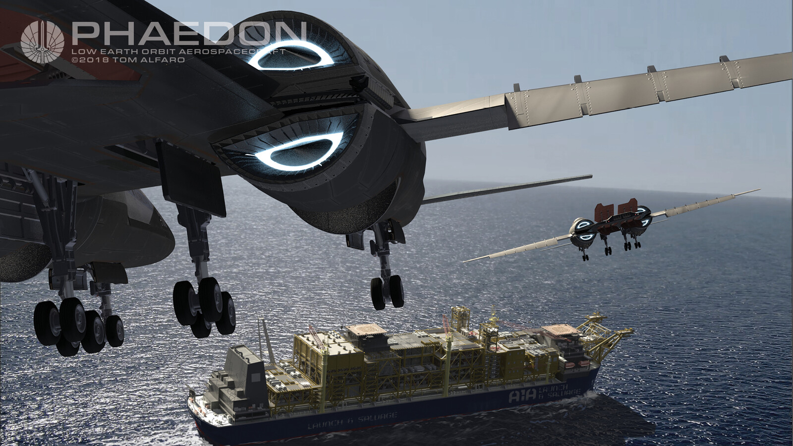 Another successful mission.  Both units (manned and drone) will return with salvage cargo, safely to their platform of origin, for a safe vertical landing.