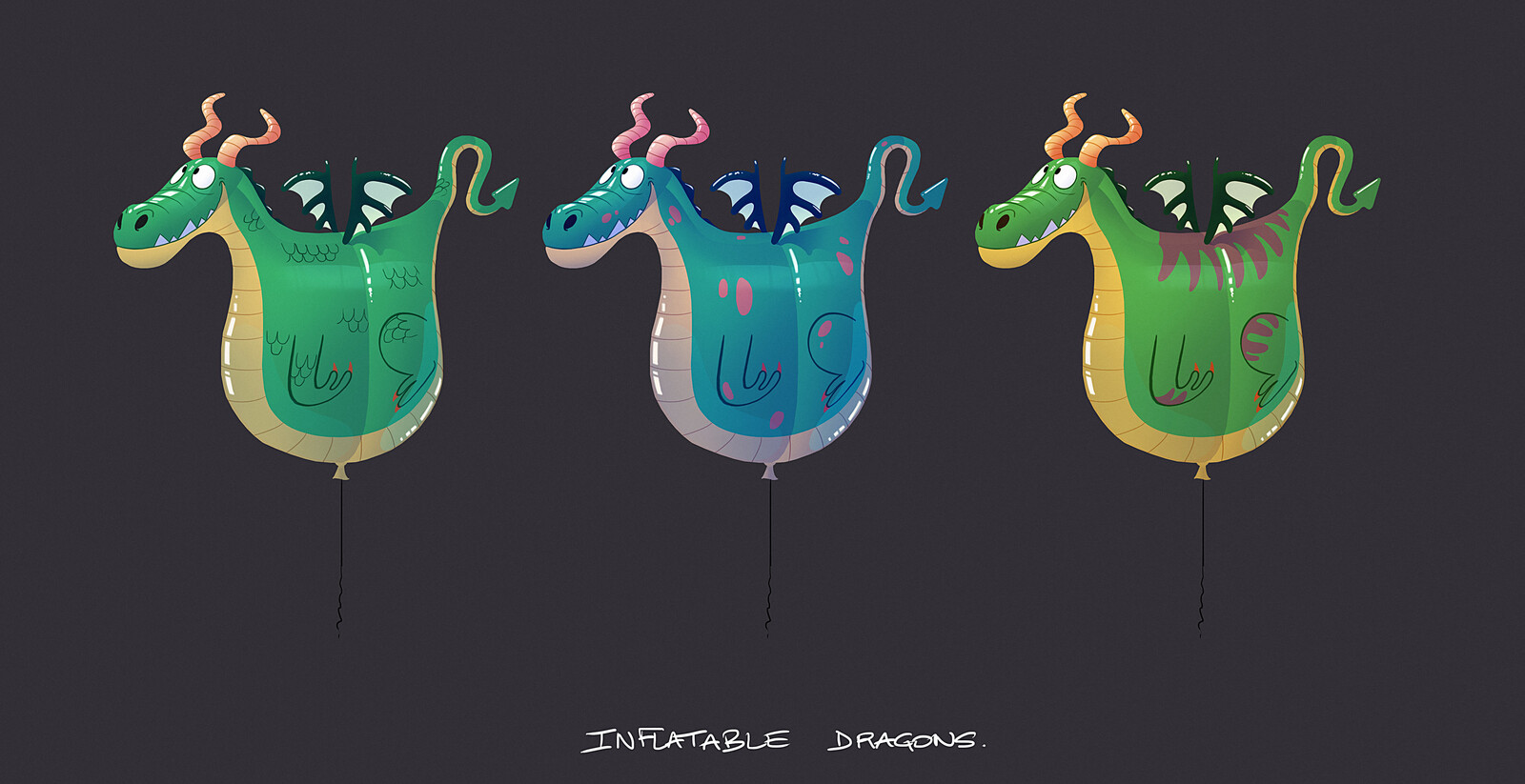 Inflatable dragons