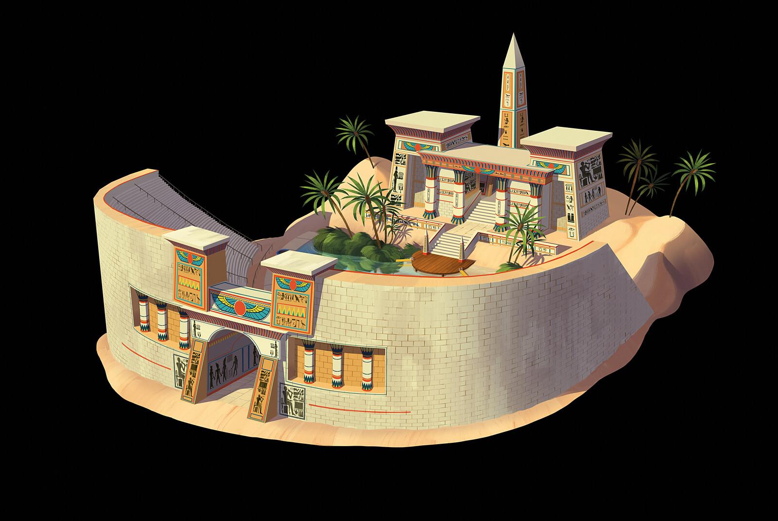 Egyptian themed mini-game