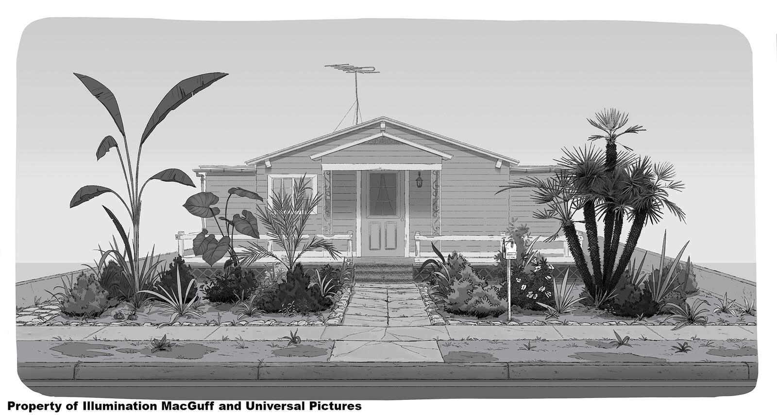 Mina's house front garden
