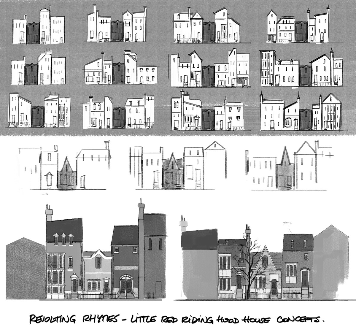 """""""Little Red Riding Hood"""" house concepts"""