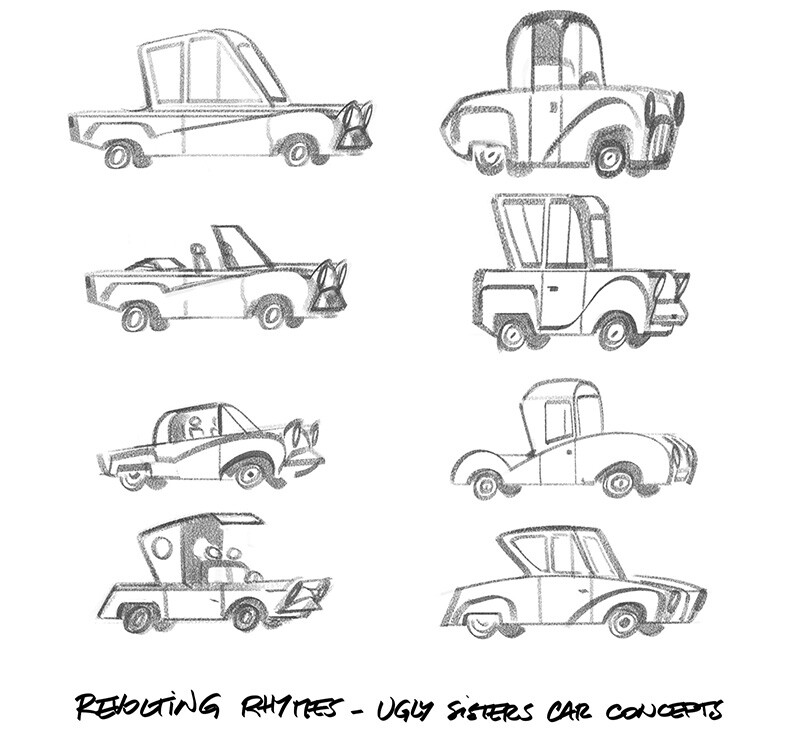 Ugly Sisters car concepts