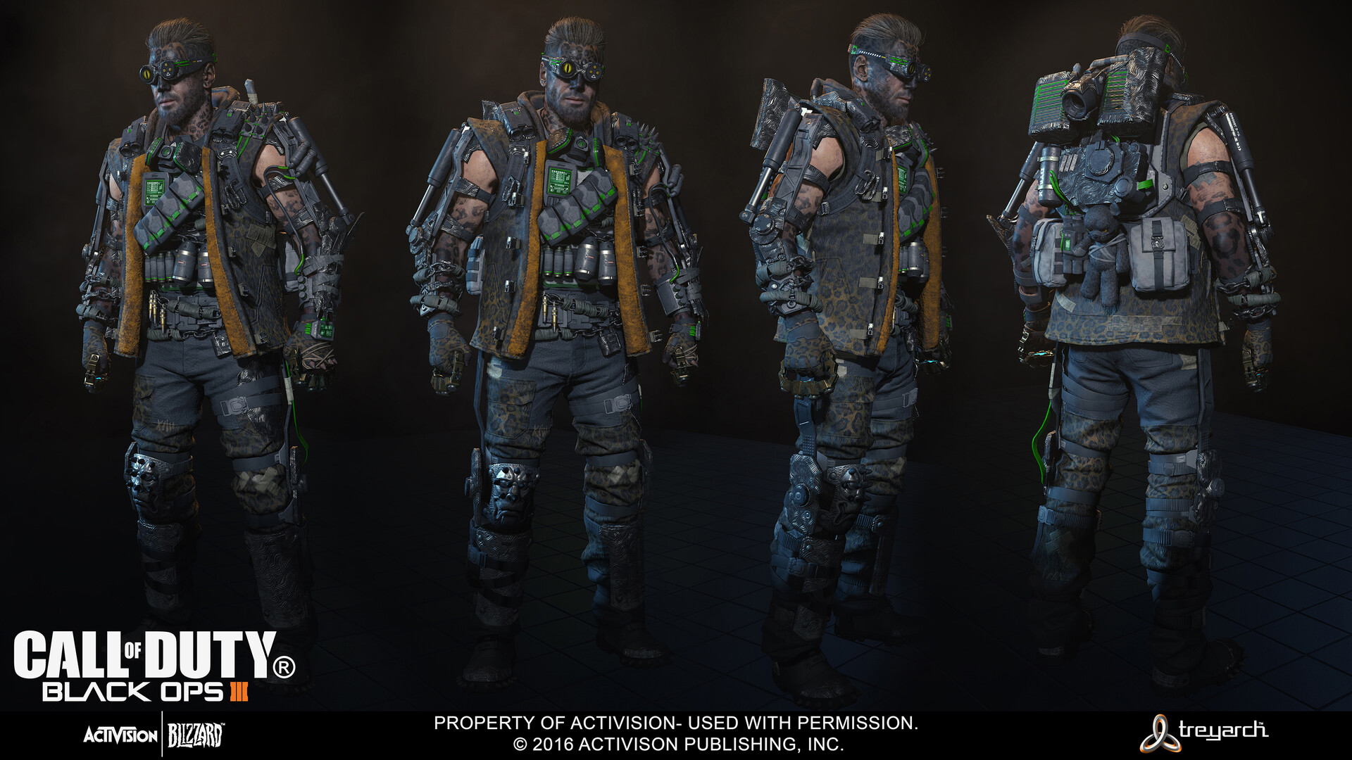 ArtStation - Call of Duty: Black Ops 3 Characters, Brandon Bennett