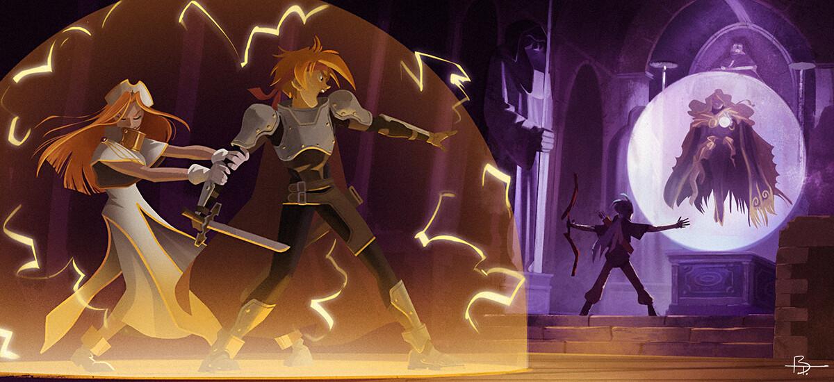 Tales of Phantasia fan-art: escaping Dhaos