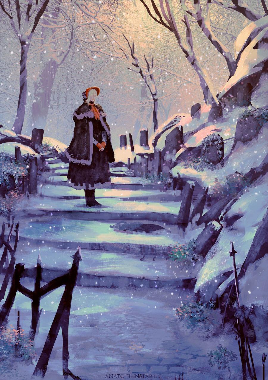 Anato finnstark anato finnstark are you cold oh good hunter bloodborne by anatofinnstark dcu5r1h fullview