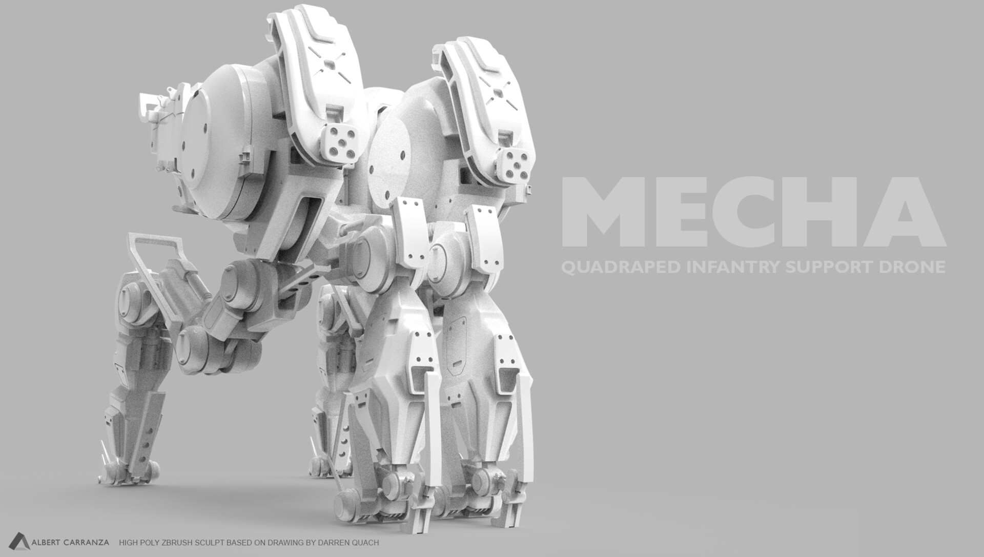 Mech based on a design from Darren Quach