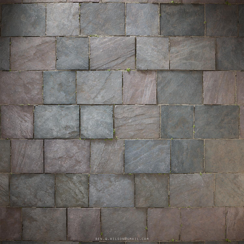 Ben wilson slate stone floor render 1