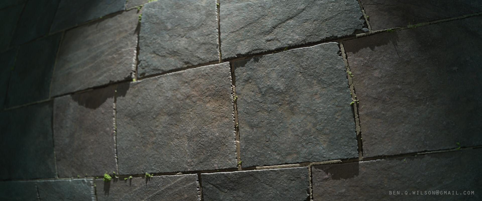 Ben wilson slate stone floor render 2