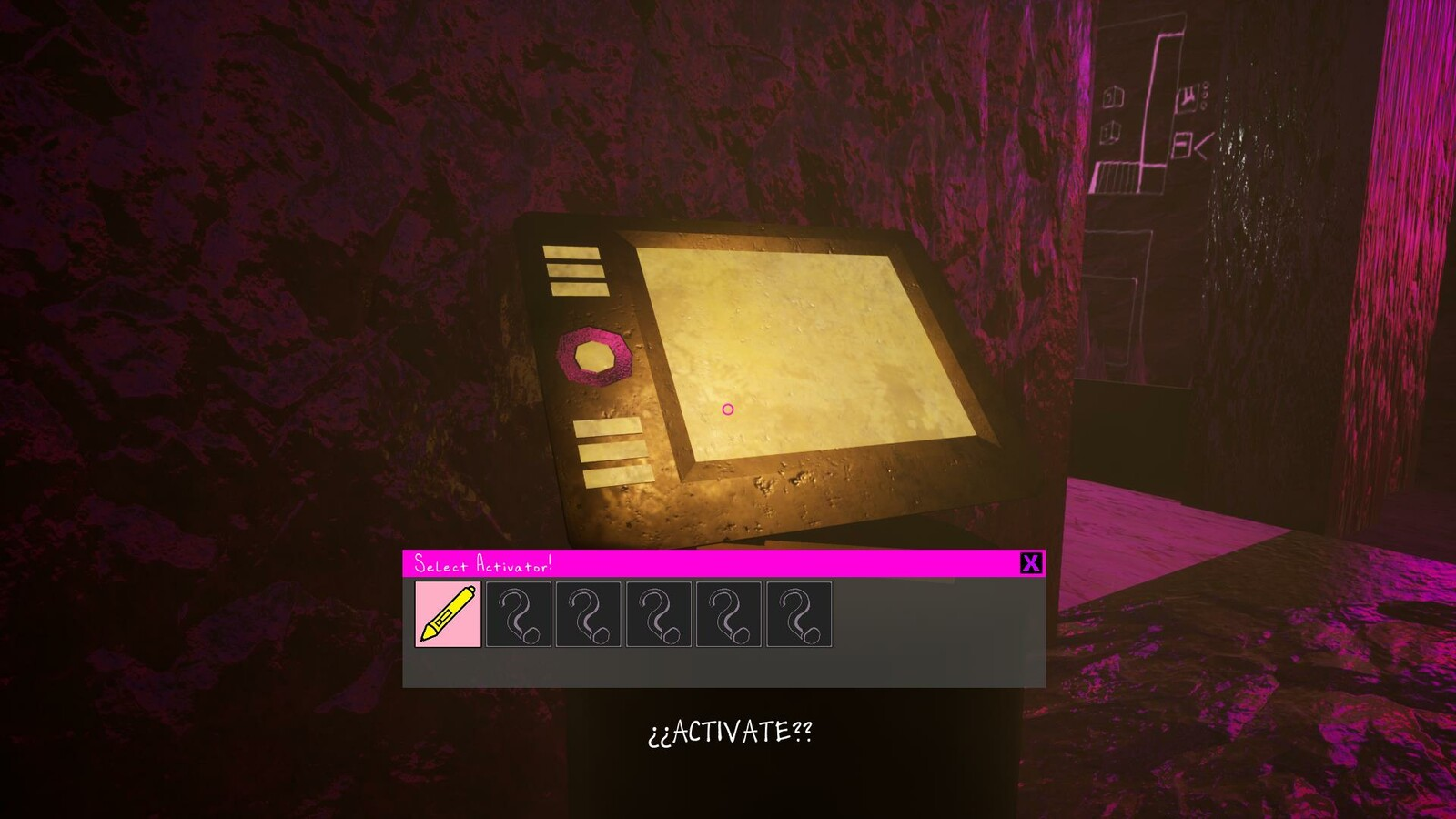 When you obtain the Wacom Pen from the Truth NPC, the Wacom Tablet lights up and can be activated.