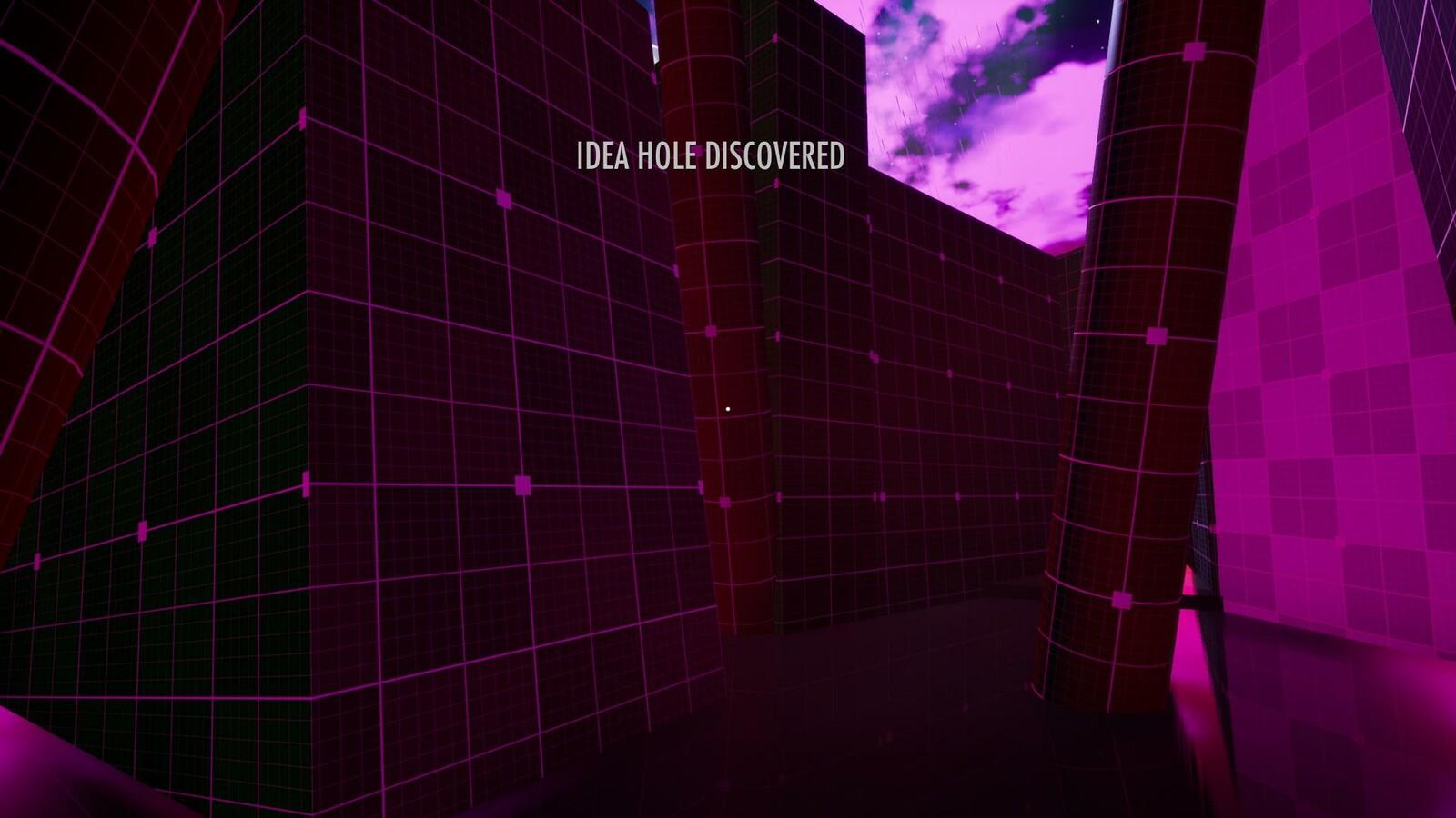 The Beginning of the Idea Hole area.