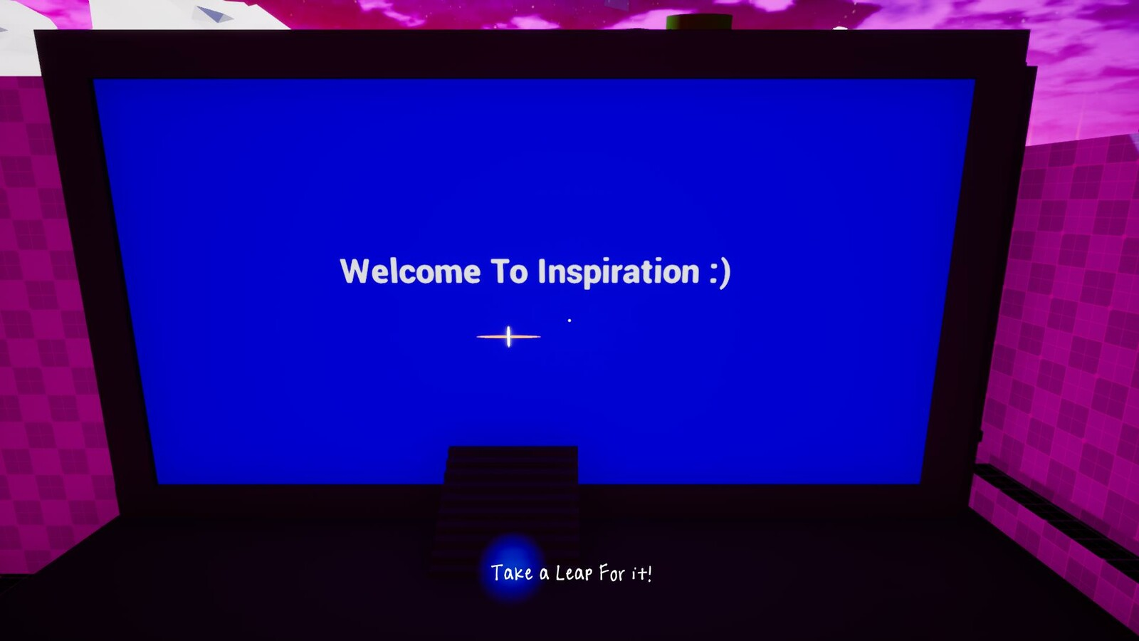 "First area: ""Welcome to Inspiration"" Computer Screen"