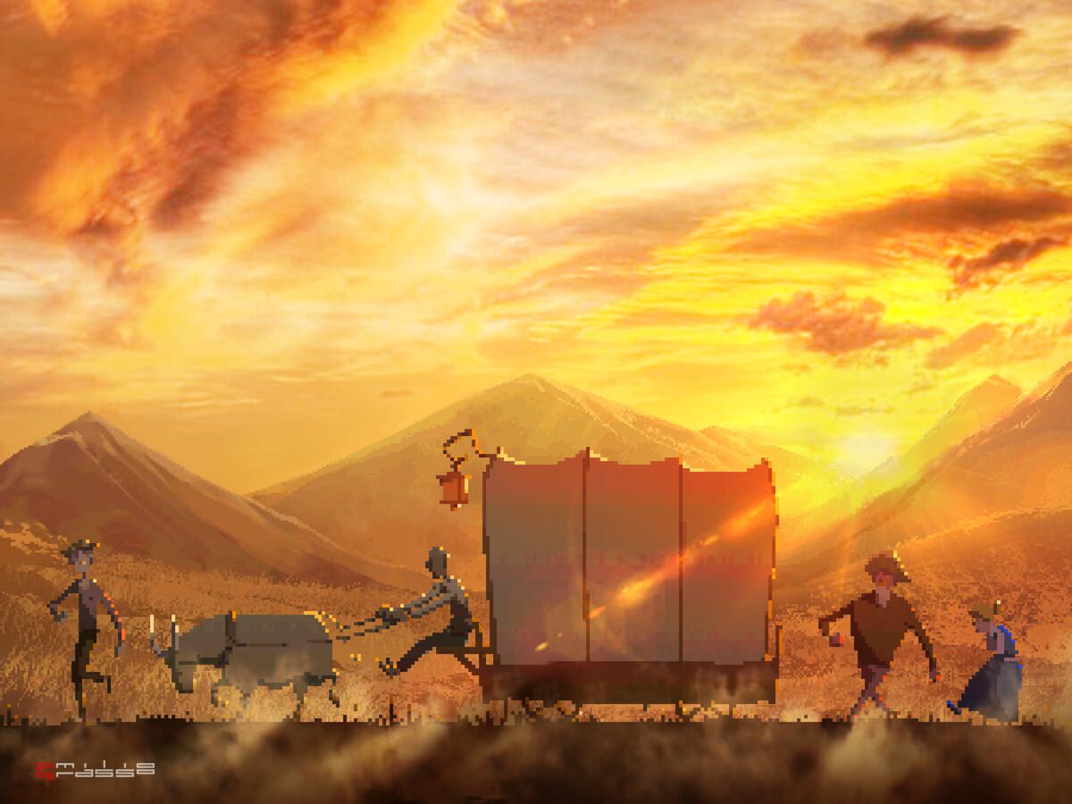 Emilio grasso pixel sunset