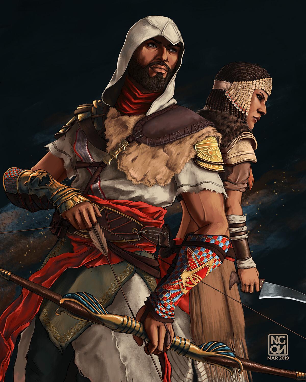 Artstation The Hidden Ones Assassin S Creed Origins Fan Art Angela Notari