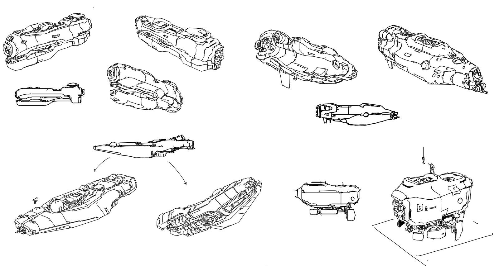 random ship doodle 1
