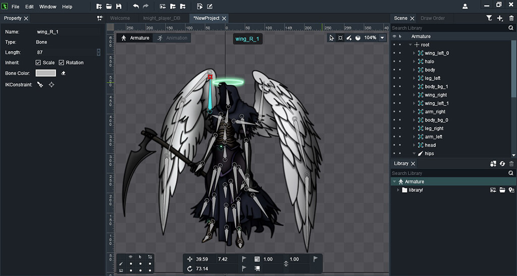 ArtStation - Angel of Death (NPC of a training game), Ary Guilherme