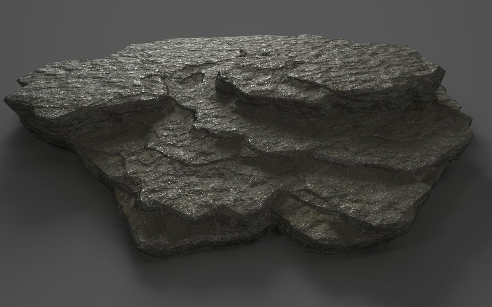 Earlier test, asteroid like.