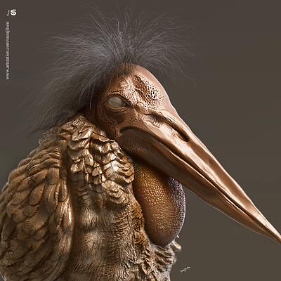 Surajit sen bird digital sculpting surajitsen may2019