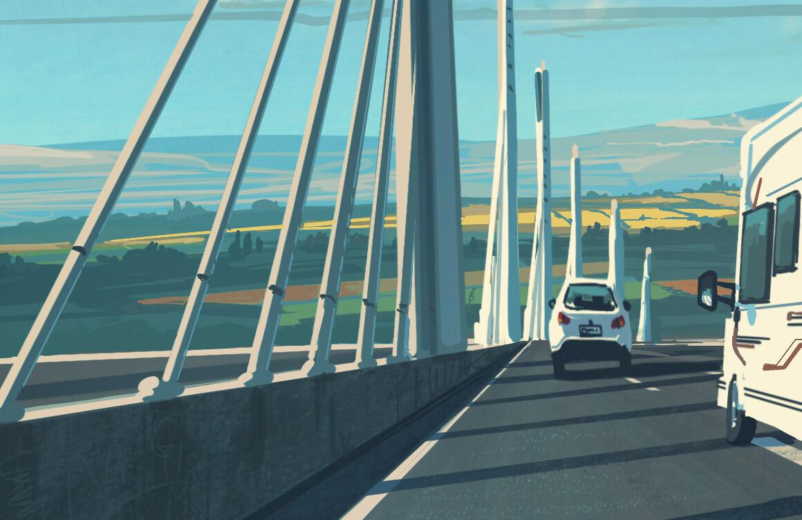 Millau Viaduct - iPadPro and Procreateapp
