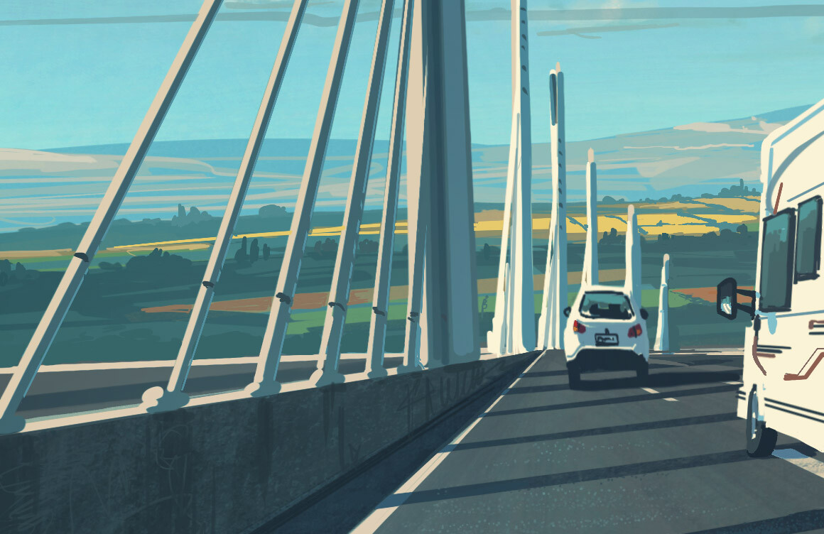 Millau Viaduct - iPadPro and Procreateapp