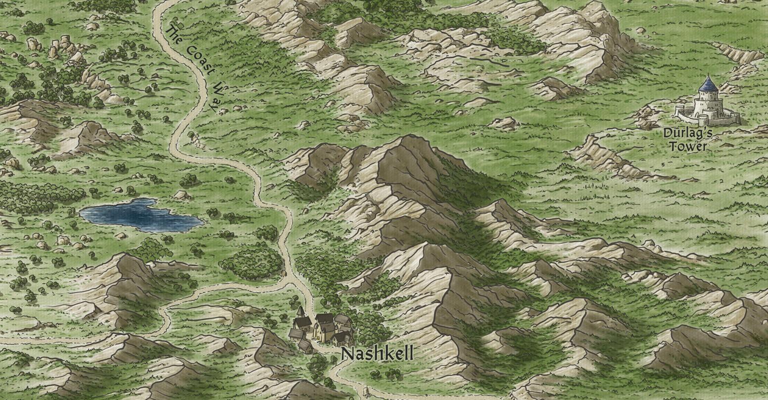 John Stevenson - Baldur's Gate - Sword Coast map