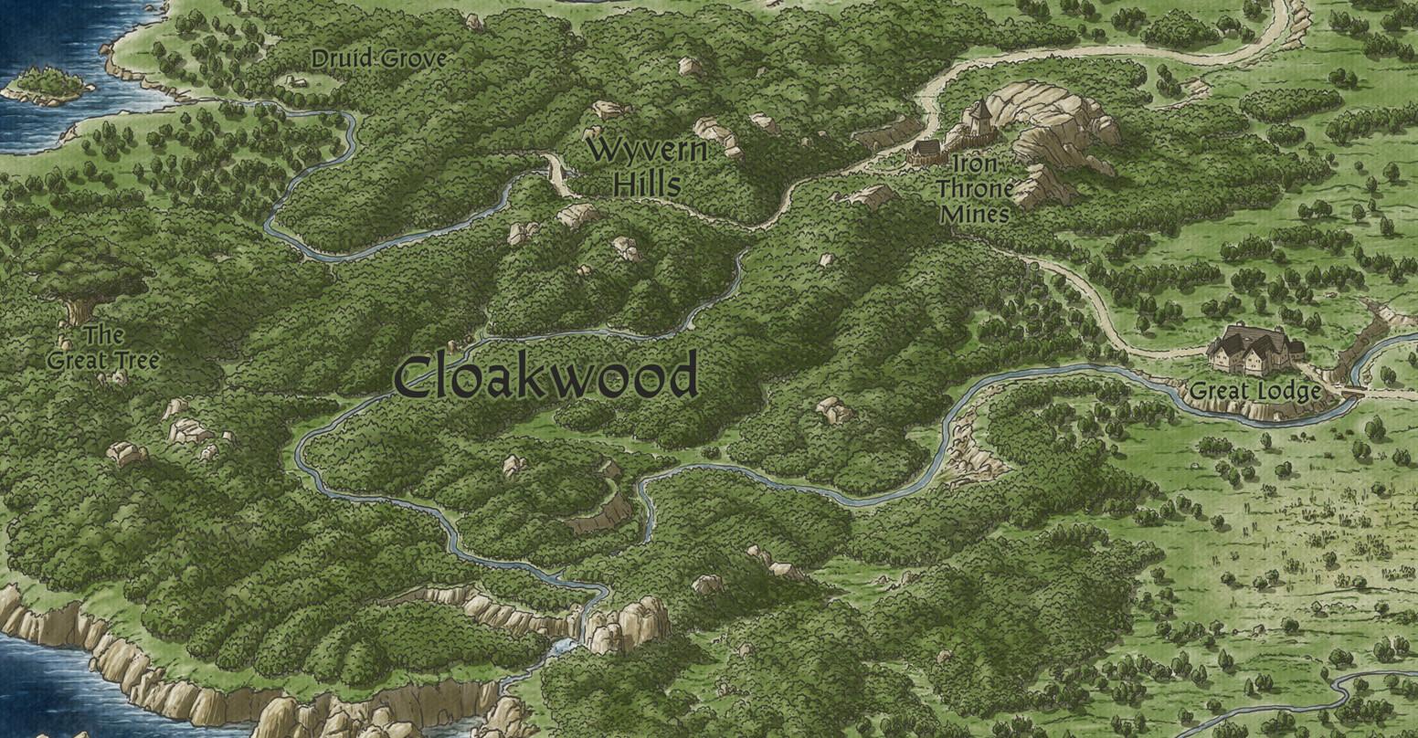 ArtStation - Baldur's Gate - Sword Coast map, John Stevenson