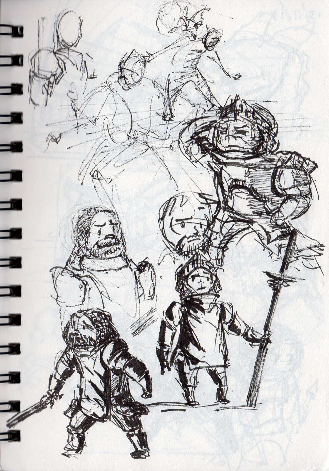 early sketches of my little knight.