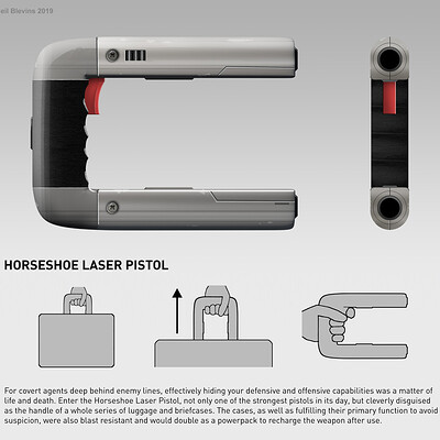 Neil blevins horseshoe laser pistol b design packet