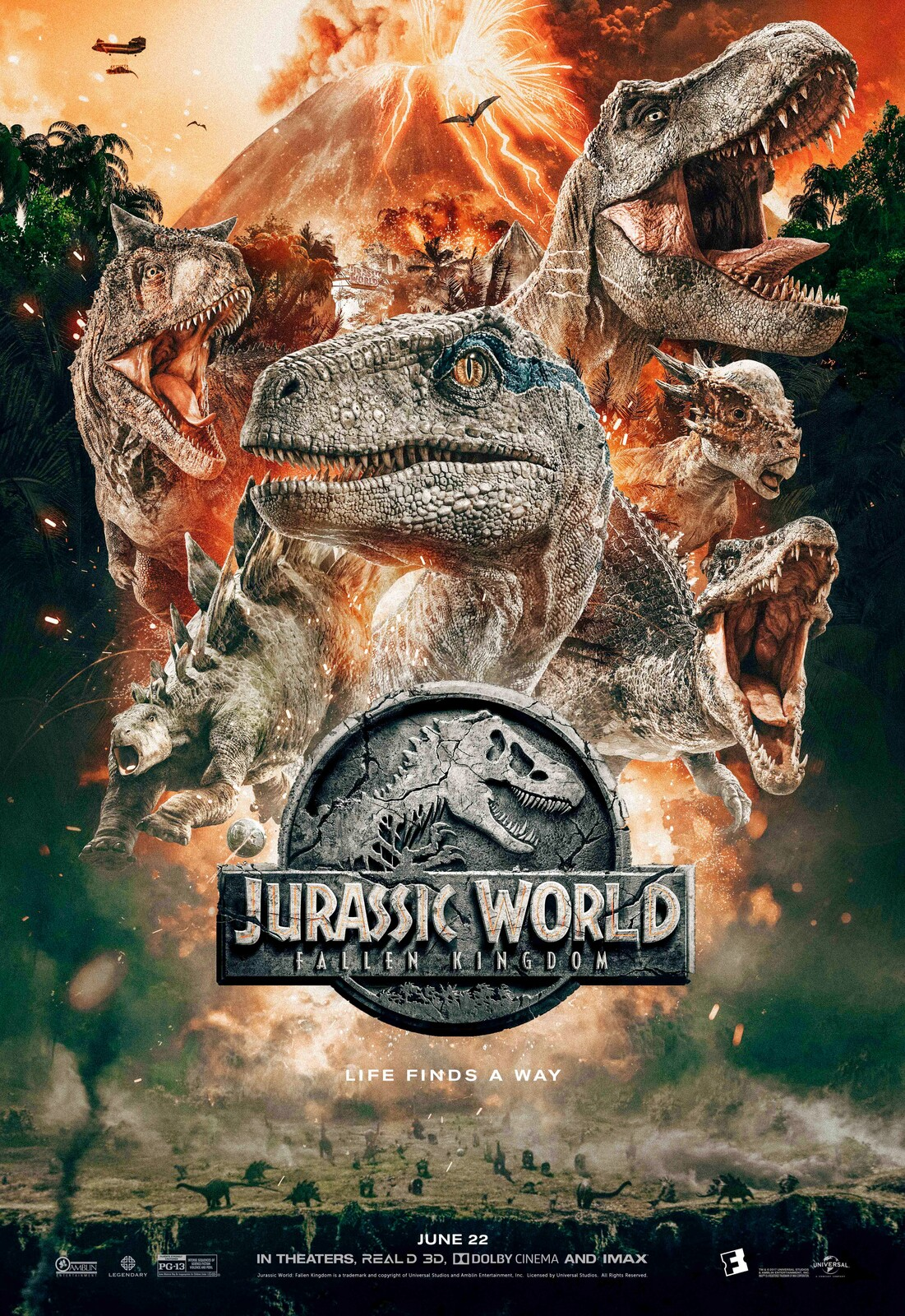 Official Jurassic World Fallen Kingdom - Fandango Exclusive Poster