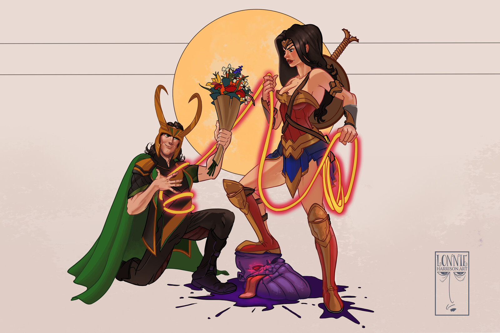 Loki love Wonder Woman
