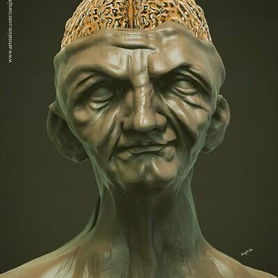 Surajit sen golden brain digital sculpting surajitsen may2019 l