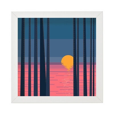 Rajesh r sawant white frame sunset