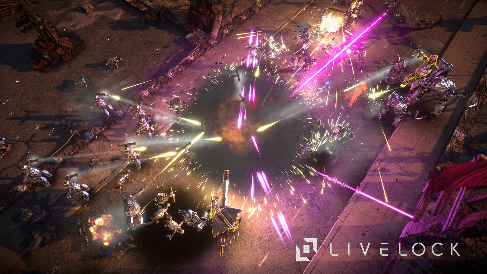 Livelock uses full dynamic lighting. The statics assets were using the alpha vertex for pre-baking the ambient occlusion.