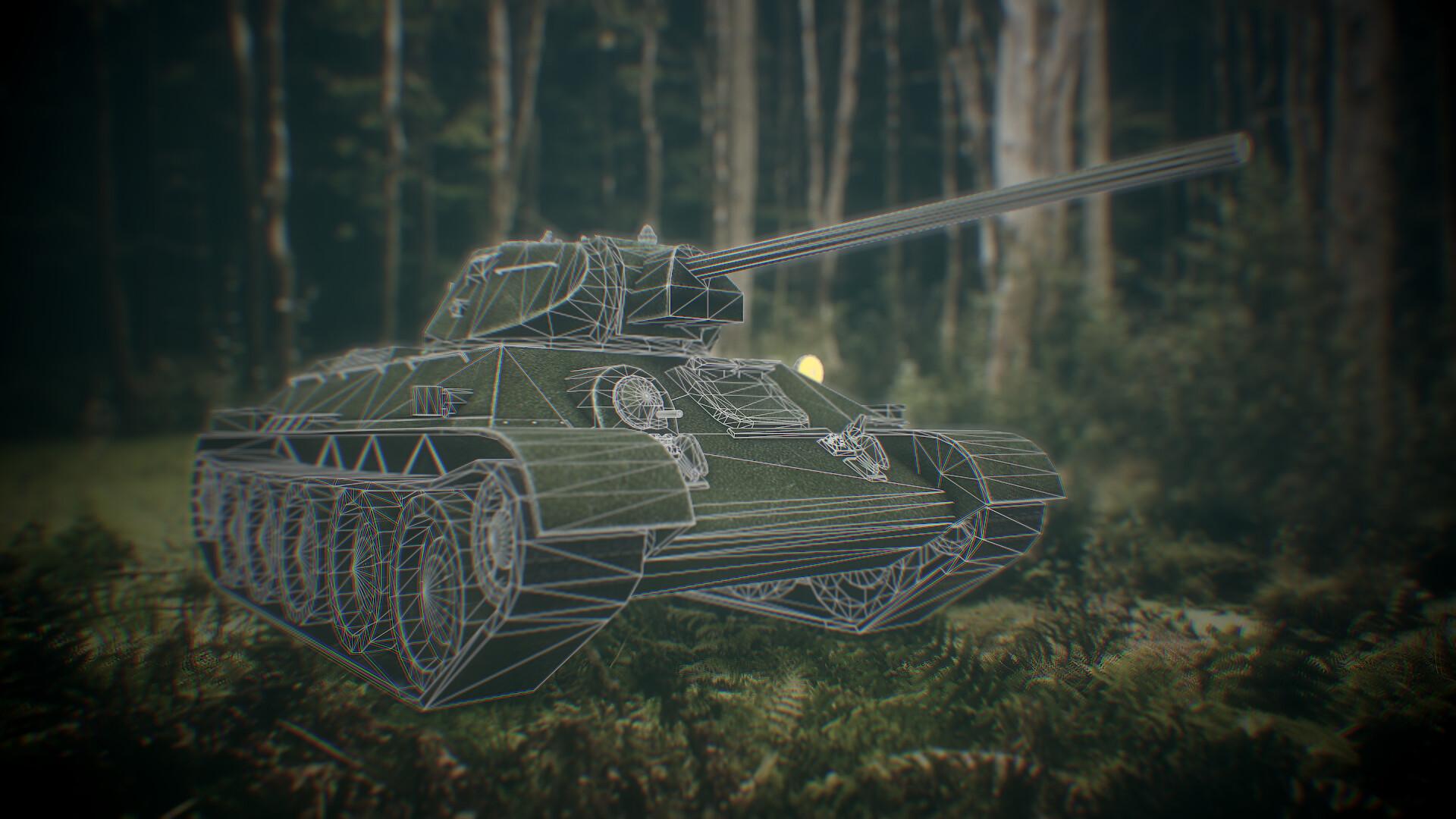 Low Poly Soviet Tank T-34 Game ready  2013 scorpion3dcom  Tomas Laureckis