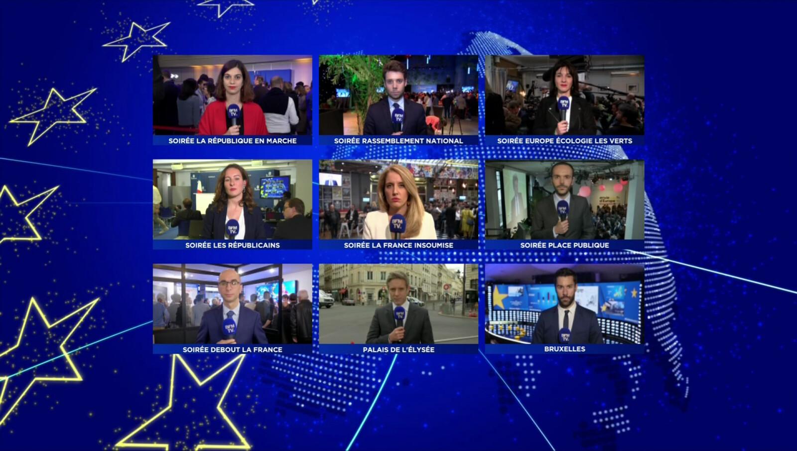 BFMTV // EUROPEAN ELECTIONS MULTIPLEX