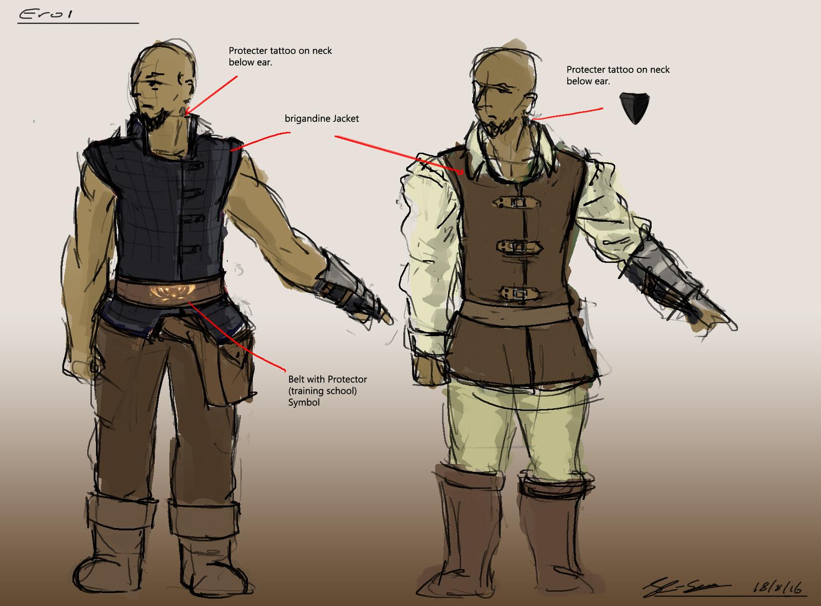 Main Character Rough ideas