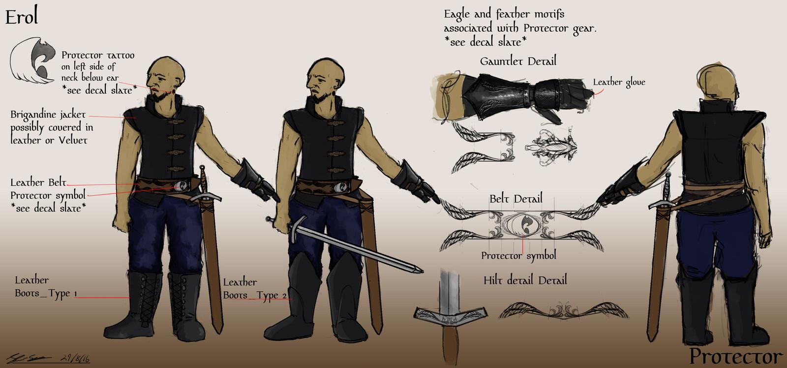 Main Character final design.