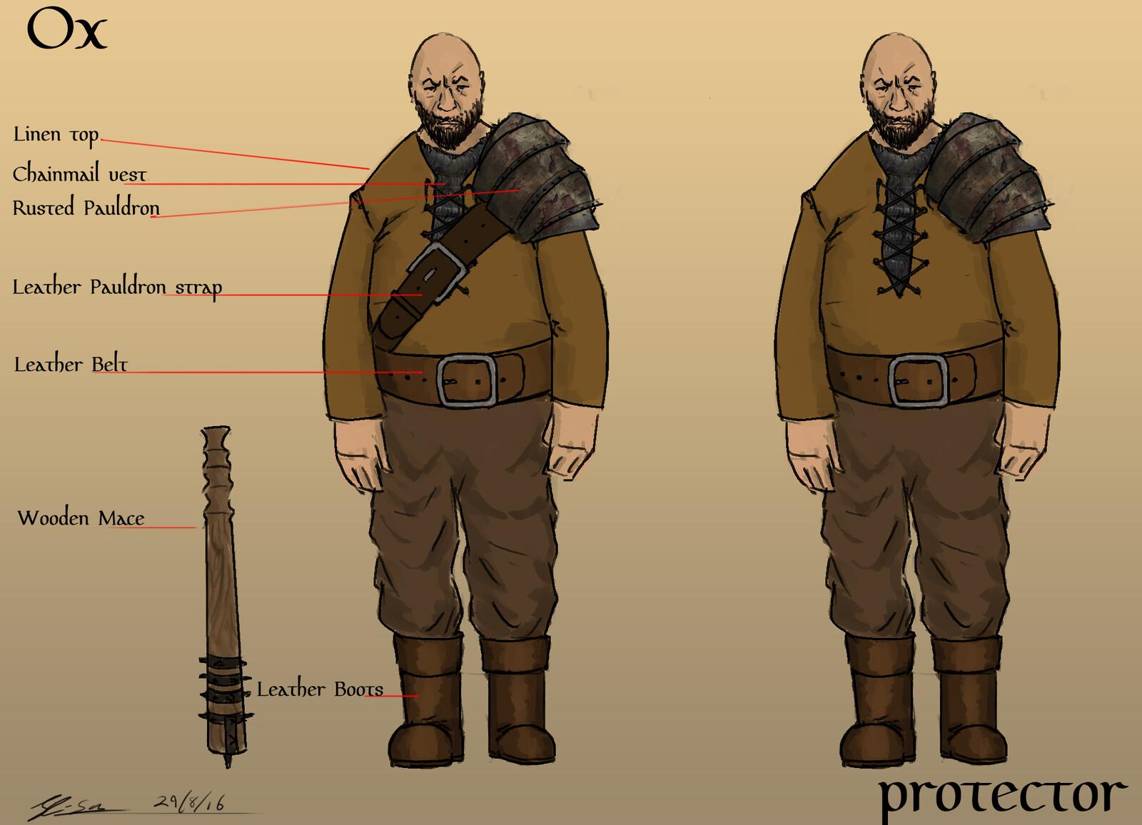 Male villain final design.