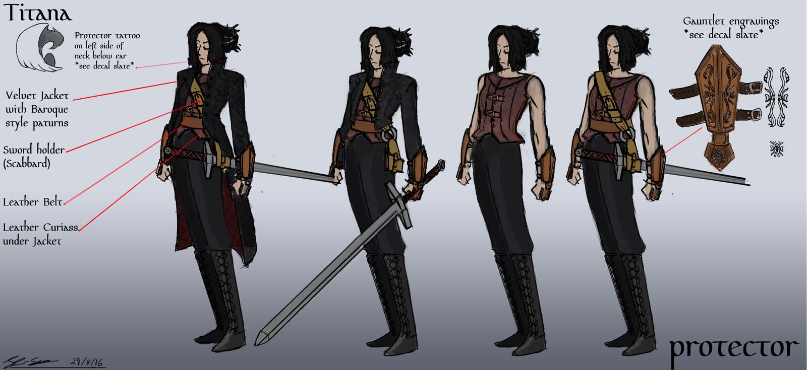 Final design for female villain