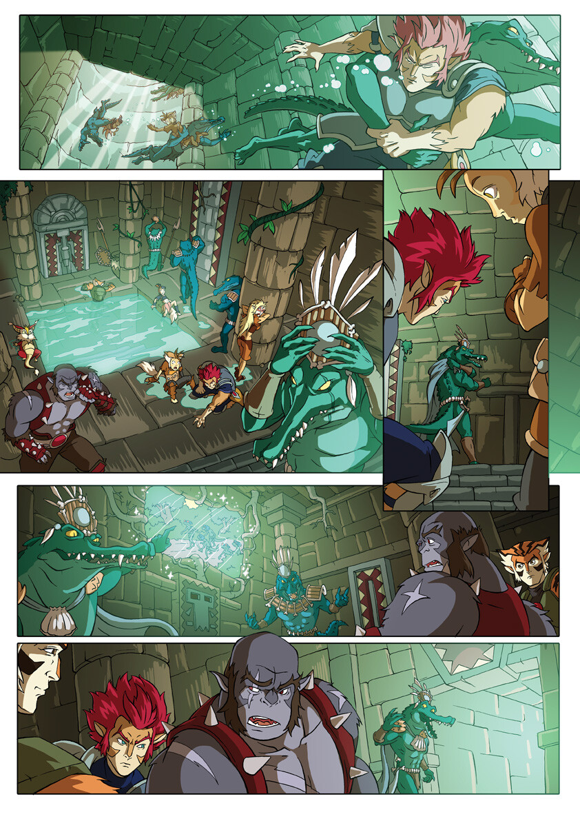 Thundercats comic page excerpt for Panini Comics UK