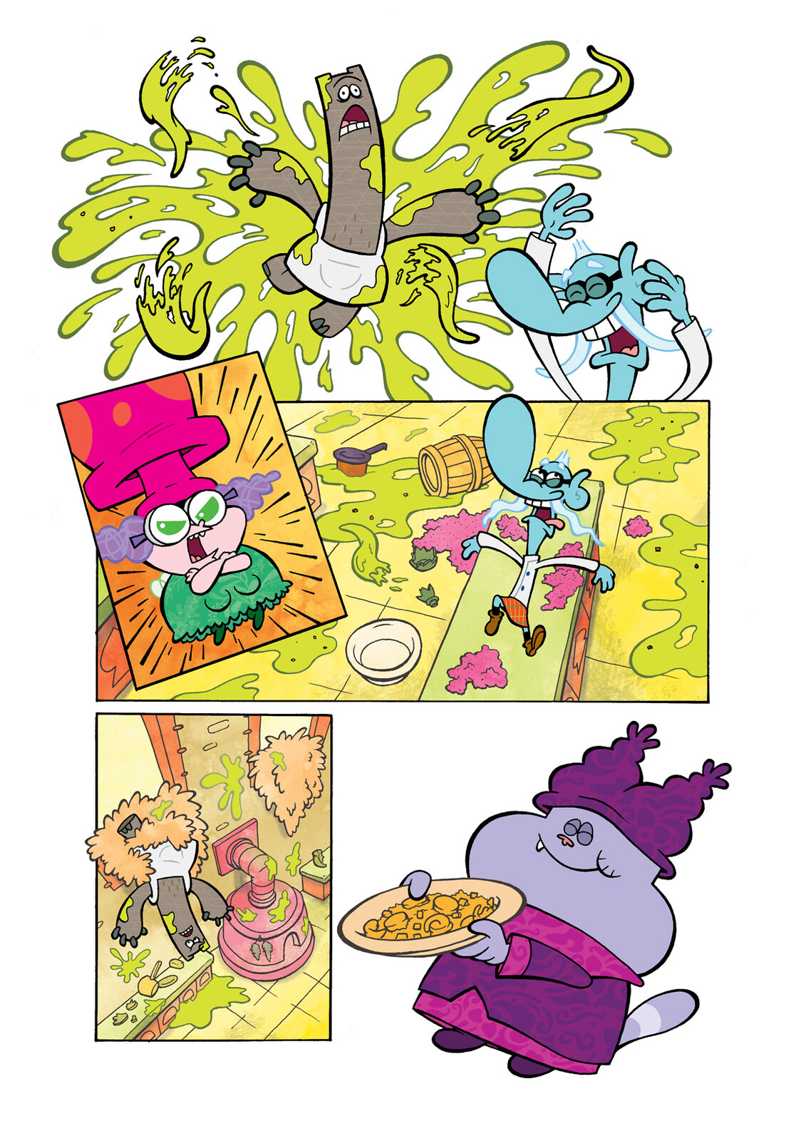 'Chowder' comic page excerpt for Skyjack Publishing.