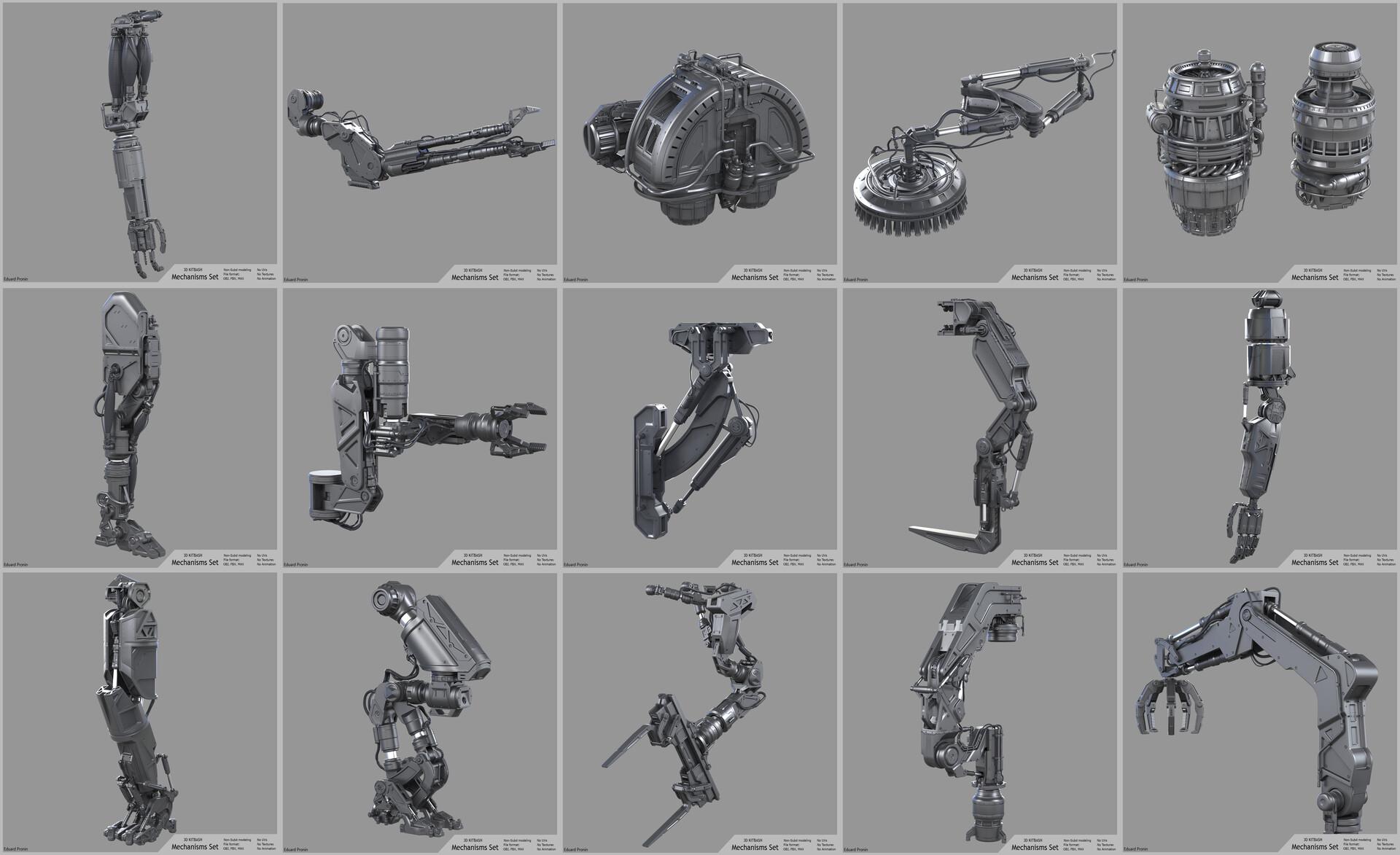 Eduard pronin power tech mechanisms set
