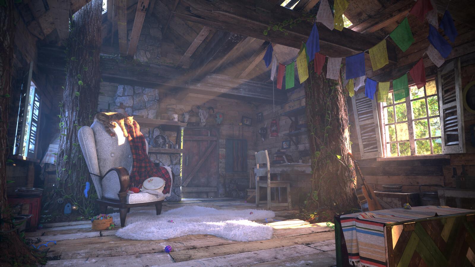 Pixar's Rustic Cabin Art Challenge